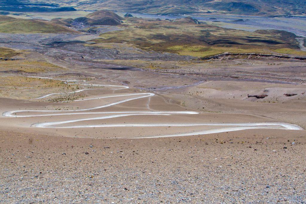 Fahrt zum Parkplatz (4500m) am Cotopaxi