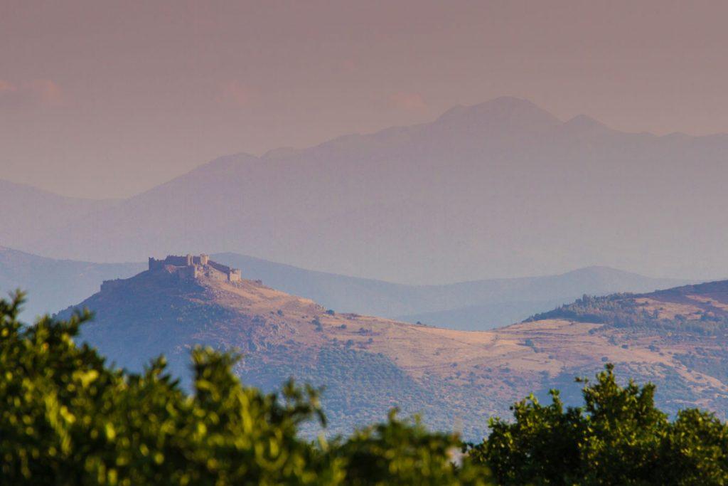 Die Burg Larissa bei Argos auf Peloponnes, Griechenland