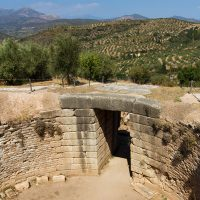 Das Gräberrund von Mykene aus Peloponnes, Griechenland