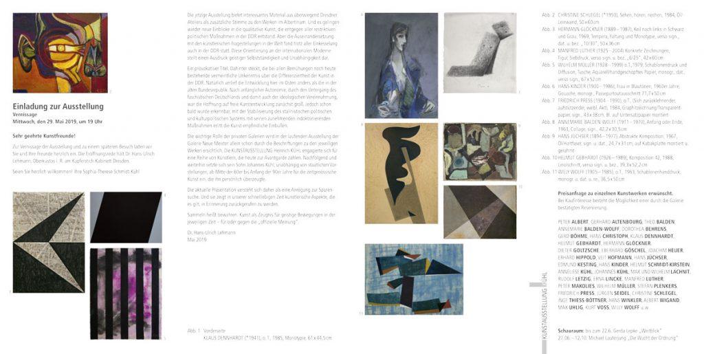 Einladung Ausstellung Ostdeutsche Abstraktion