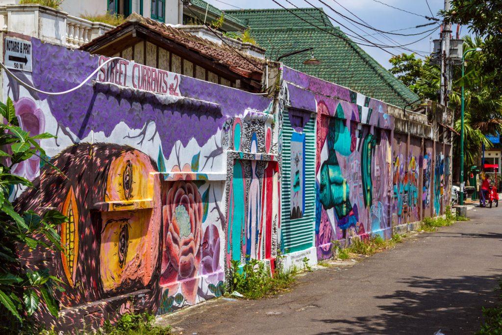 Street Art in Yogyakarta auf Java