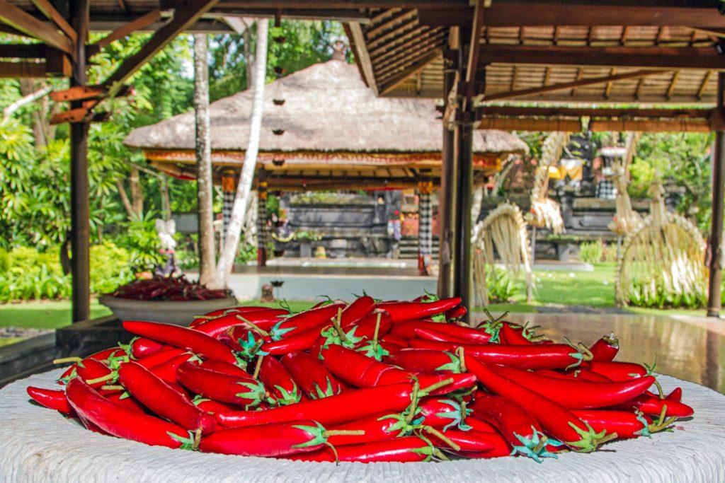 Scharfe Leckereien im Hotel Melia in Nusa Dua, Bali