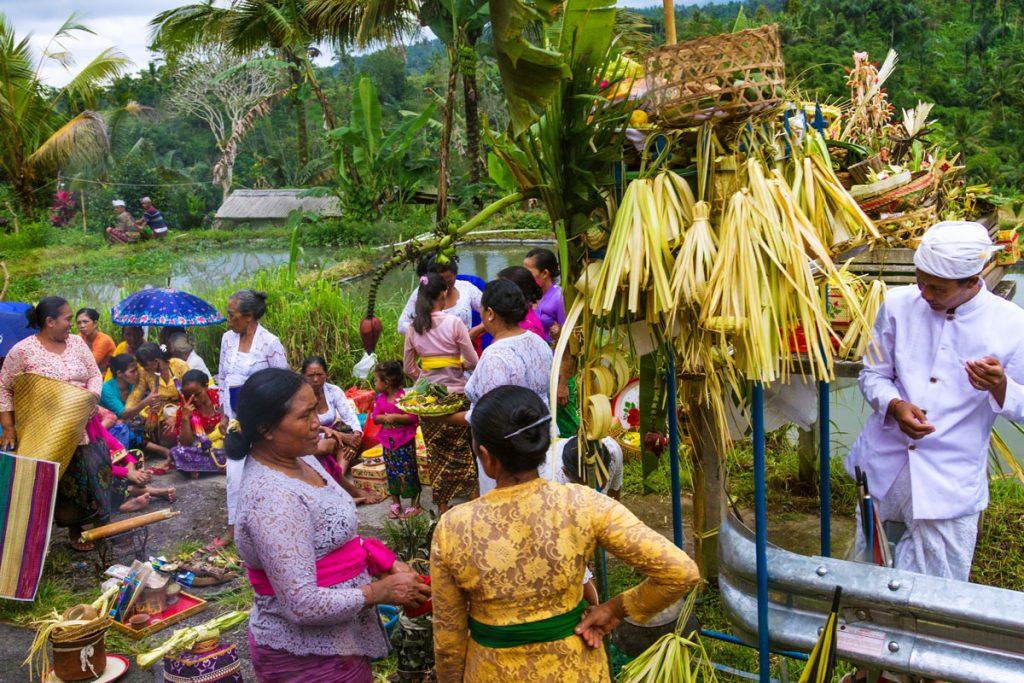 Kleiner Markt in Plaga auf Bali, Indonesien