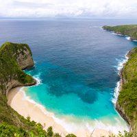 Kelingking Beach auf der Nusa Penida vor Bali als HDR
