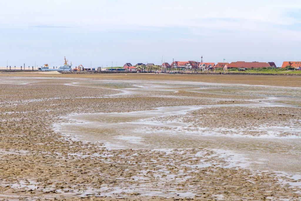 Die Wattwanderung startet auf der Insel Baltrum