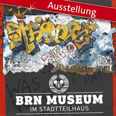 Flyer Street-Art-Ausstellung im BRN-Museum