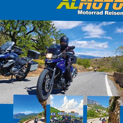 Katalog voller Reisen mit dem Motorrad