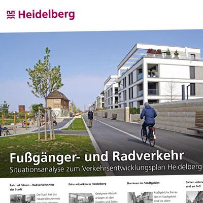 Plakate zur Situationsanalyse Verkehrsentwicklungsplan Heidelberg