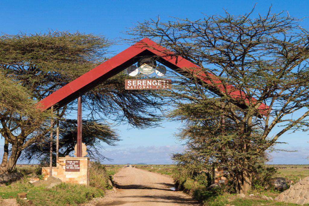 "Der ""Eingang"" zum Serengeti-Nationalpark, Tansania"