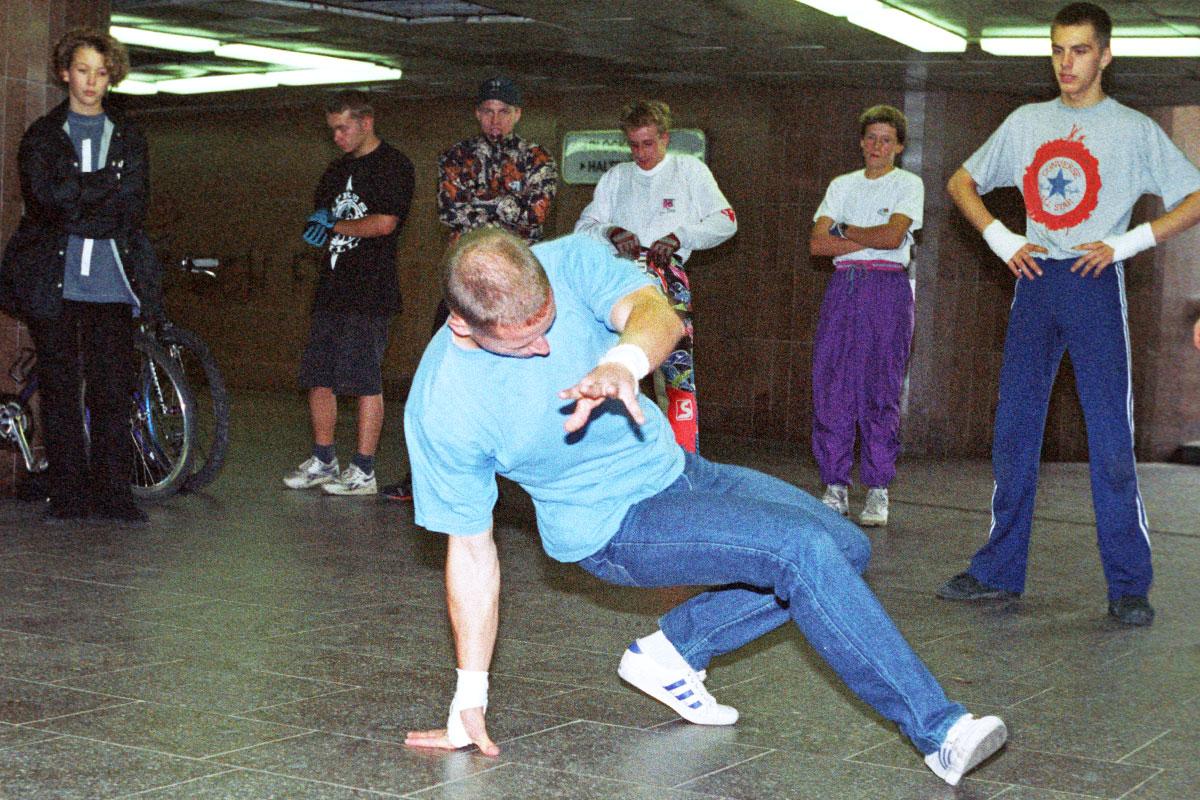 Tommy B beim Breakdance in Dresden