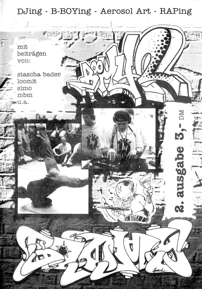 Cover der zweiten Ausgabe des Hip Hop Magazins BOOMY