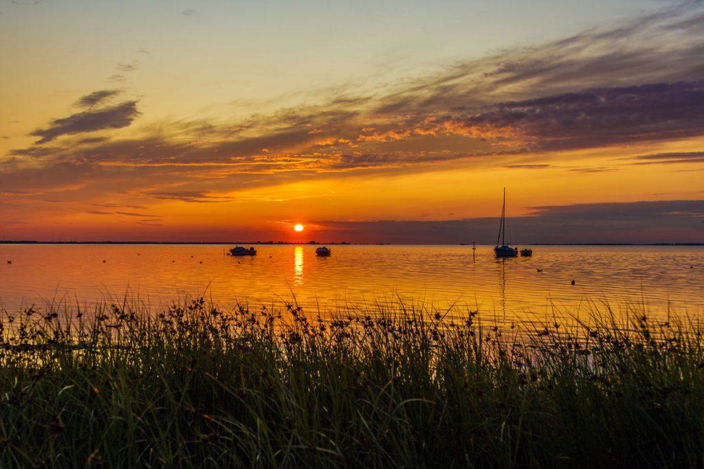 Sonnenuntergang in Loissin bei Greifswald als HDR