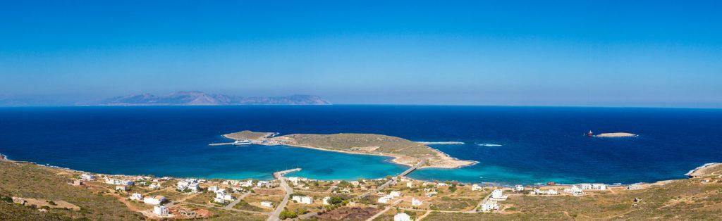 Diakofti auf Kythira als Panorama