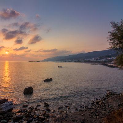 Sonnenaufgang in Aghia Pelagia auf Kythira