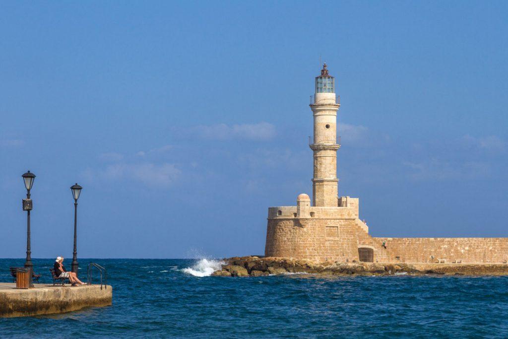 Der Hafen von Chania, Kreta