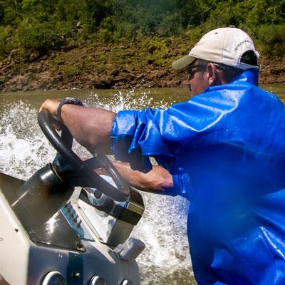 Schlauchbootsafari mit Macuco Boot Safari auf dem Iguaçú, Brasilien