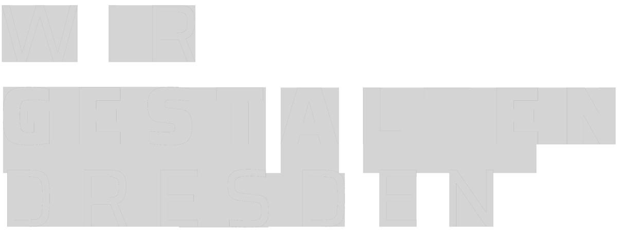 Logo des Dresdner Branchenverbandes Wir gestalten Dresden