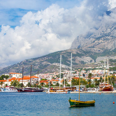 Hafen von Makarska, Kroatien