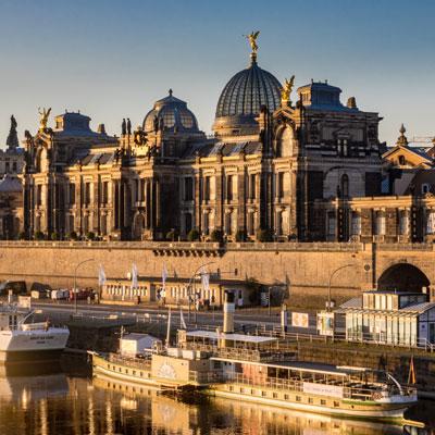 Die Brühlsche Terrasse von Dresden