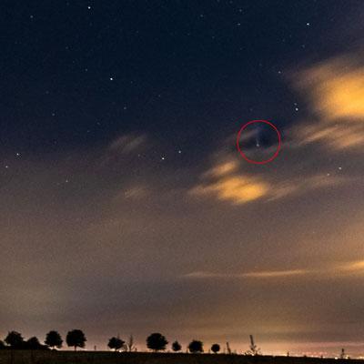 Der Komet C/2020 F3 (Neowise) von der Babisnauer Pappel aus fotografiert