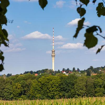 """Der Dresdner Fernsehturm im """"Schaufenster"""""""