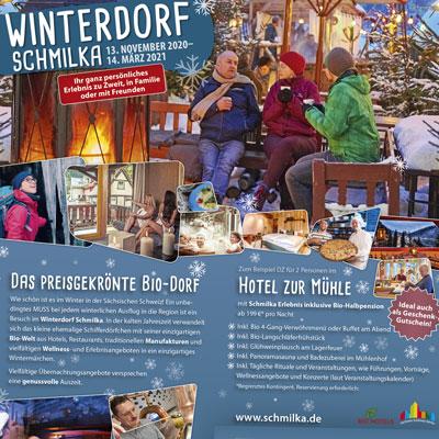 Winterdorf-Anzeige im Selfmailer