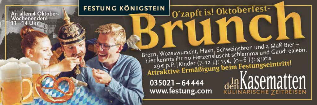 Anzeige für den Oktoberfest-Brunch auf der Festung Königstein
