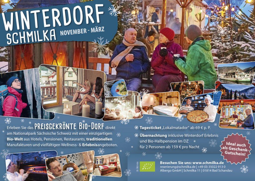 Anzeige für das Winterdorf Schmilka
