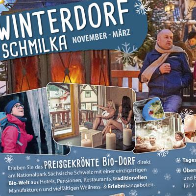 Das Winterdorf inseriert im Reisemagazin