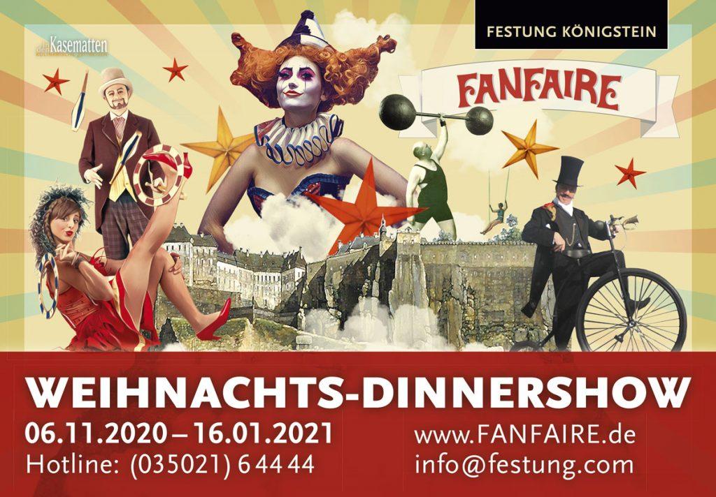 9m2-Großflächenplakat für die Weihnachtsshows auf der Festung Königstein