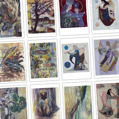 Postkarten-Set mit Kunst der Familie Kühl