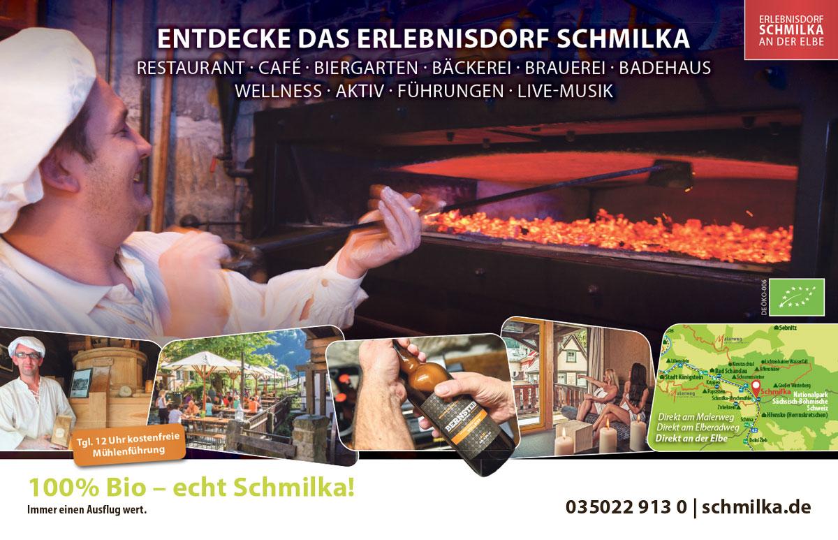 Advertorial Design im SandsteinKurier für das Biodorf Schmilka
