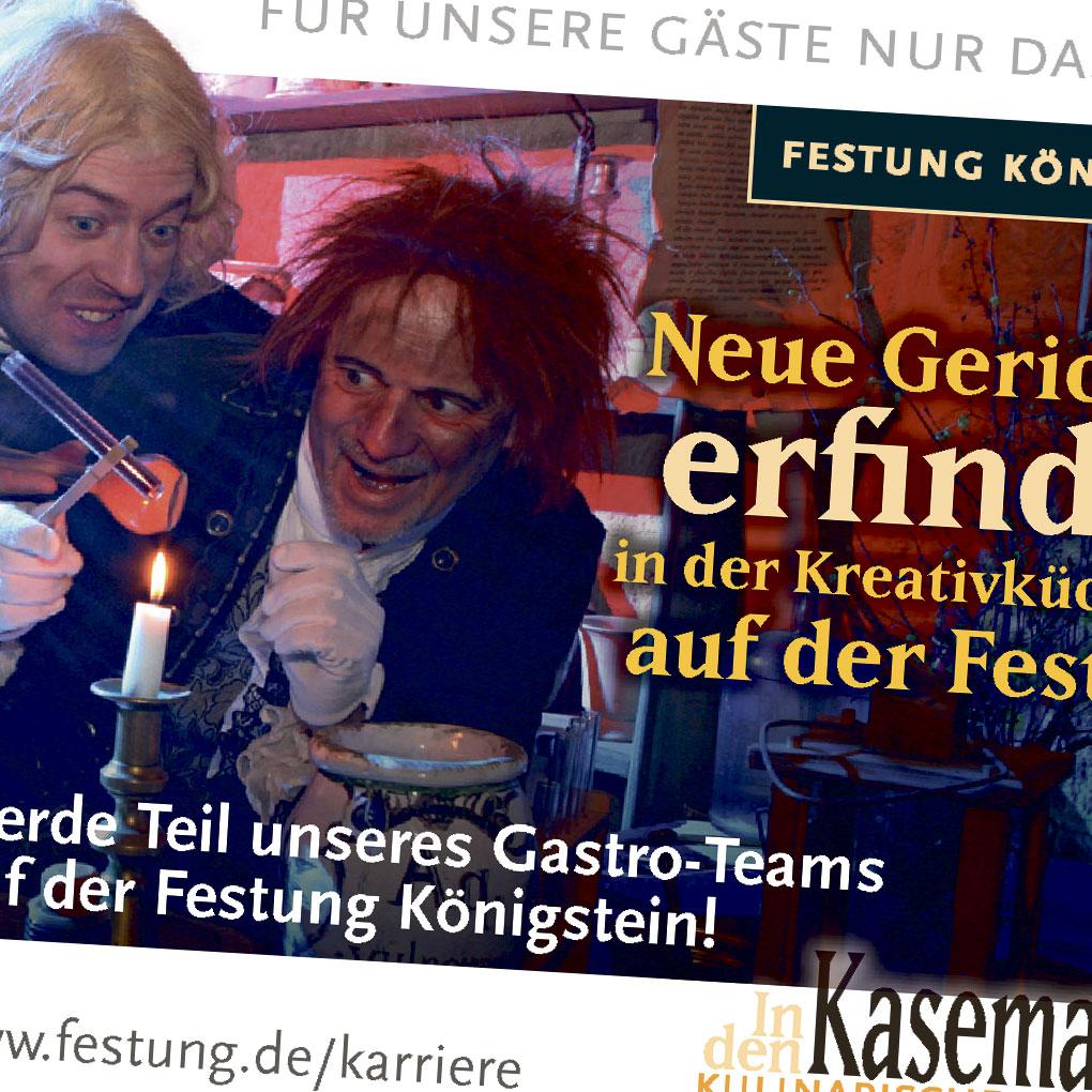 Anzeigenstaffel Stellenausschreibung für Zeitung und Facebook auf deutsch und tschechisch