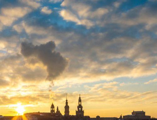 Winter in Dresden als Zeitraffer