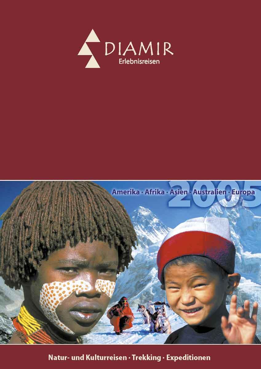 Gestaltung des Katalogs von DIAMIR Erlebnisreisen