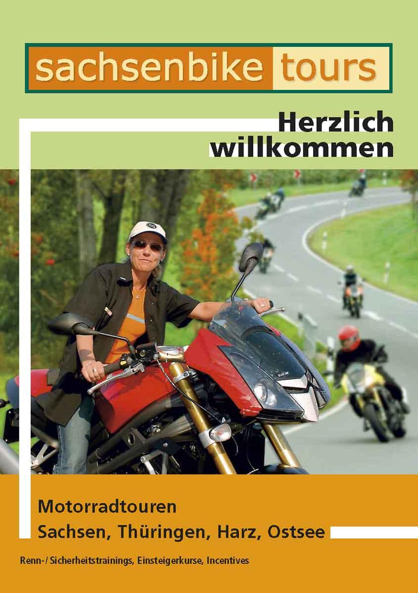 Kataloggestaltung Sachsenbike Tours 2005 Titel