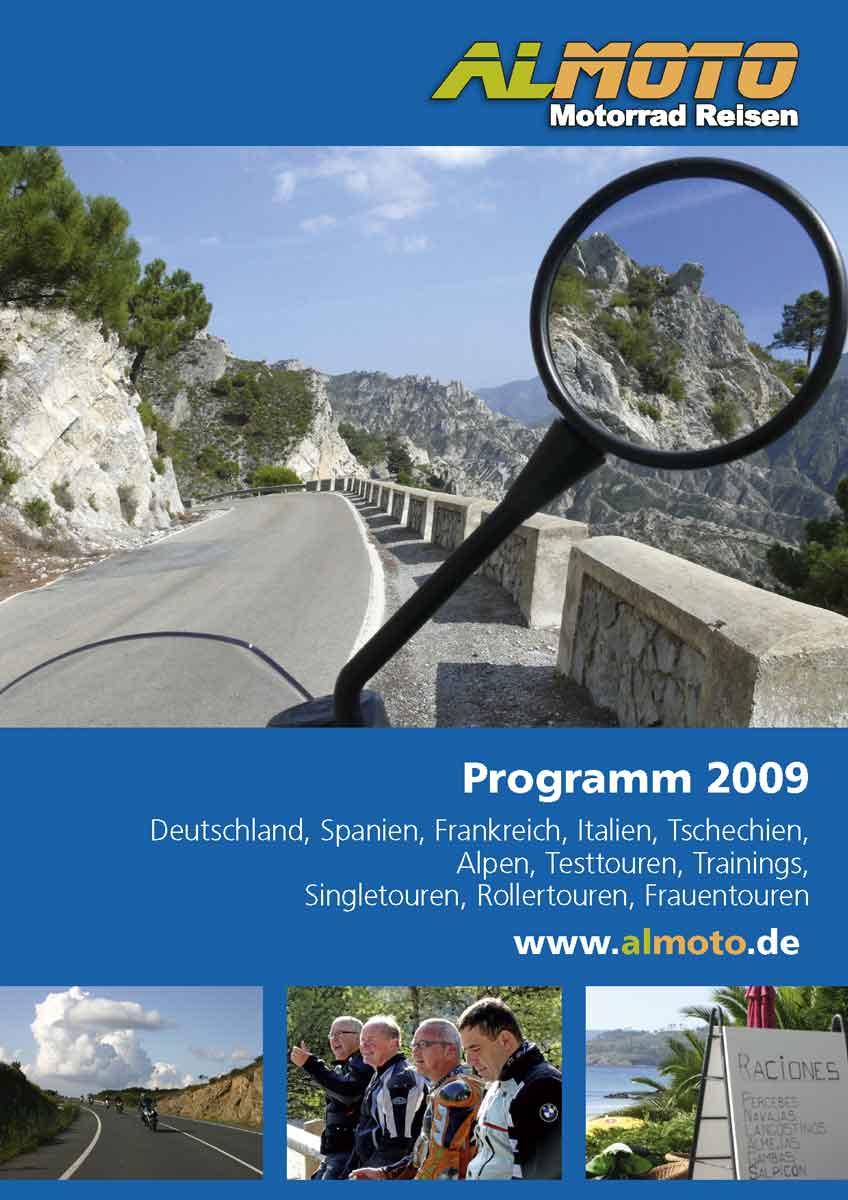 Katalog Almoto Motorradreisen 2009 Titel
