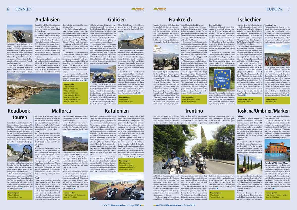 Gestaltung des Katalogs 2013 von Almoto als Zeitung
