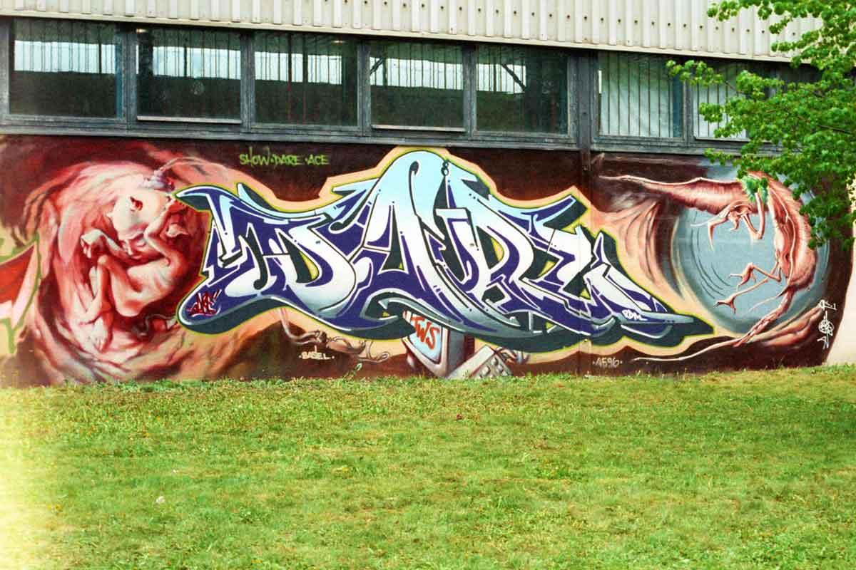 Graffiti von DARE zur Sprühfrisch 1996